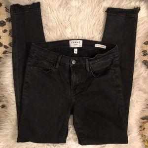 Frame Le Skinny De Jeanne Double Raw Skinny Jeans